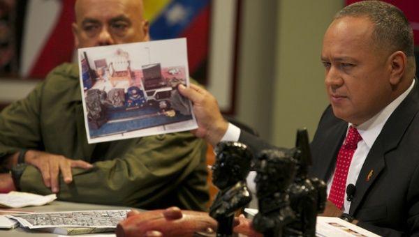 Diosdado Cabello señaló que el Palacio de Gobierno y teleSUR eran algunos de los objetivos de los ataques
