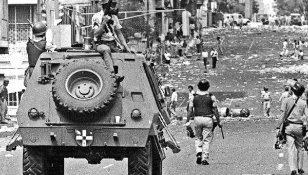 Gobierno nacional utilizó tanques de guerra para reprimir al pueblo (Foto: Archivo)