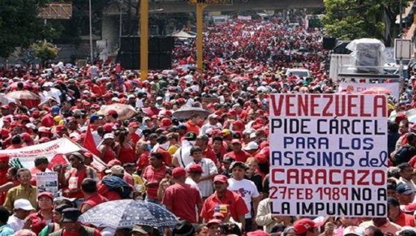 El pueblo conmemorará los hechos del Caracazo, el estallido social de 1989 marcado por la pobreza y la represión.