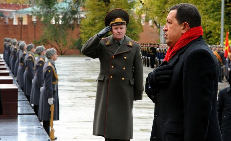 President Chavez in Russia during an official visit to deepen cooperation between both countries, in 2010. The Venezuelan leader often spoke about the need to create a multipolar world to counter the destructive imposition of U.S.-European policies and institutions.