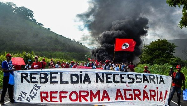 Protesters stage roadblocks in the Brazilian state of Minas Gerais.