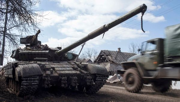 A separatist tank. Separatist leaders have been targeted by the latest round of U.S. sanctions