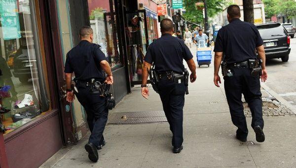 New York police officers on patrol