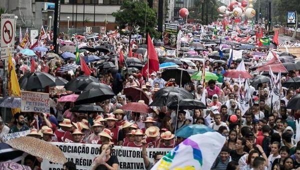 Over 100,000 people took Sao Paulo