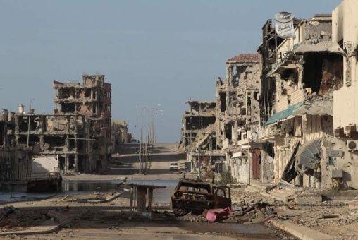 Resultado de imagen de fotos de Sirte destruido