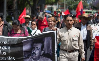 Dissident Pemex workers protest Energy Reform in Mexico City