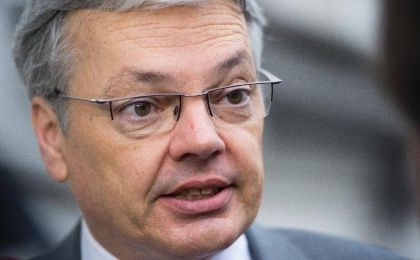 Belgium Foreign Minister Didier Reynders under fire by international rights groups.