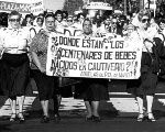 Argentina's Grandmothers of the Plaza de Mayo demanding justice for the disappeared.