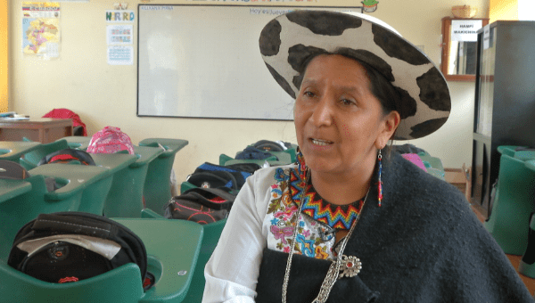 Tene said that indigenous languages are strengthened through the schools (teleSUR)