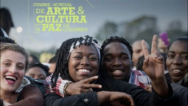 Poster for the World Art and Culture Summit for Colombian Peace.