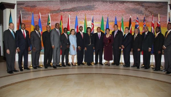 Heads of Government and Delegations at the 26th Inter-Sessional Meeting of the Conference of Heads of Government of CARICOM, March 2015