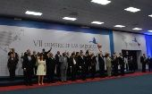 The 35 heads of state at the seventh Summit of the Americas.