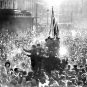 People celebrating the proclamation of the Second Republic in Madrid
