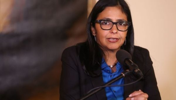 Venezuelan Foreign Minister Delcy Rodriguez said the latest round of U.S. sanctions pose a threat to all Venezuelans.