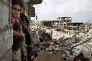 Destruction in Gaza after Operation Protective Edge