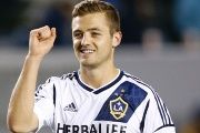 Robbie Rodgers, from the Los Angeles Galaxy of Major League Soccer