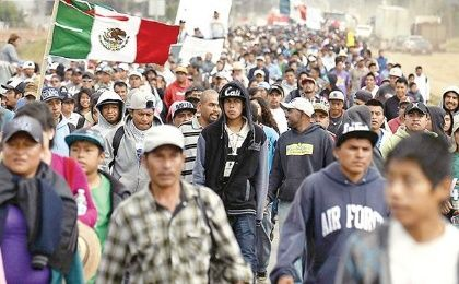 Thousands marched in San Quintin to protest labor exploitation and demand workers' rights in April.