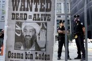 A 'wanted' poster in New York City, depicting al-Qaida leader Osama Bin Laden