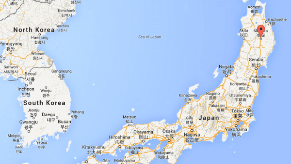 Attractive Red Dot Indicates Morioka Region, Which Was The Site Of Tuesdayu0027s  Earthquake. | Photo: Google Maps