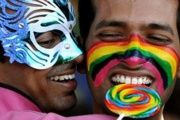 On May 17 people around the world will celebrate gains for LGBTI rights, and protest against discrimination. These men are from India.