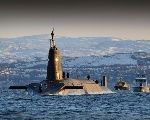 The HMS Vanguard which carries nuclear missiles
