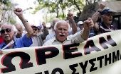 Greek pensioners march for a better healthcare in Athens, May 20, 2015