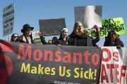 An anti-Monsanto protest earlier this year. Similar protests were set to hit 48 countries on six continents Saturday.