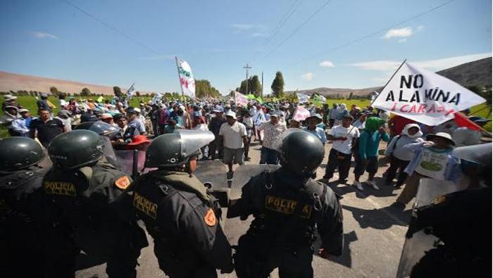 Resultado de imagen para peru militarizacion de la protesta social