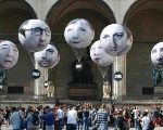 Balloons made by the 'ONE' campaigning organisation depicting leaders of the countries members of the G7 are pictured in Munich, Germany, June 5, 2015. Up to 40,000 citizens marched through Munich Thursday June 4 to protest against the upcoming G-7 summit.