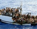 A fishing boat carrying 300 migrants in the Mediterranean