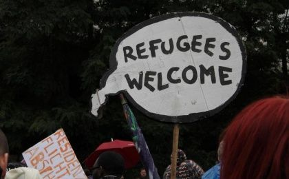 Pro-refugee protest in Germany