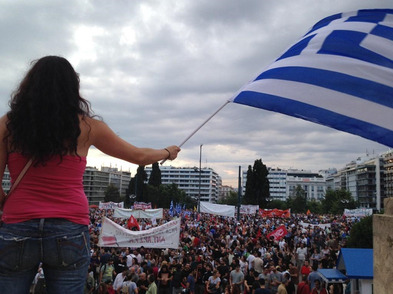 Thousands rally in the Greek capital of Athens ahead of the emergency EU Summit Monday.