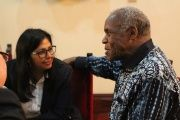 U.S. actor Danny Glover also met the Minister of Foreign Affairs, Delcy Rodríguez.