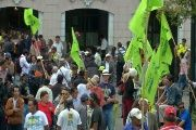 Supporters of the Citizen's Revolution gather in Independence Plaza (teleSUR)