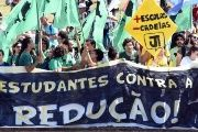 Students protested against the move in Brasilia.