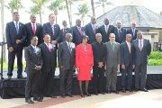 CARICOM Leaders at the 36th Heads of Government Meeting now underway in Bridgetown, Barbados.
