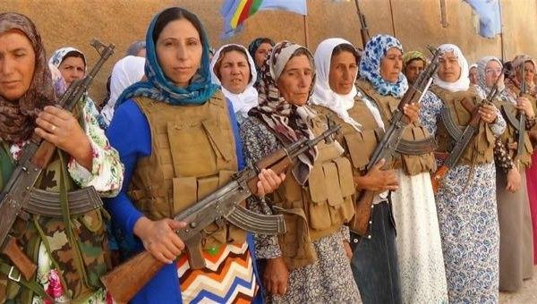 "The ""Shehid Jîn"" battalion of mothers in Kobane, founded one year ago"
