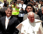 Pope Francis made a call for peace and dialogue during visit in Ecuador (teleSUR)