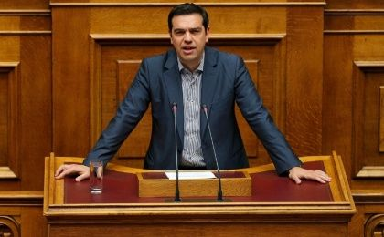 Prime Minister Alexis Tsipras spoke to the Greek Parliament Friday.
