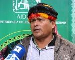 Achuar indigenous leader Juan Pinola denounces the inaction of Talisman Energy in remedying contamination - July 10, 2015.
