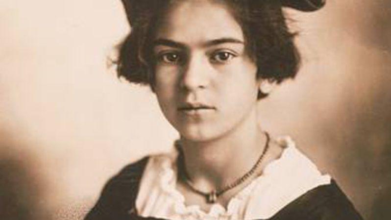 Frida Kahlo de niña.