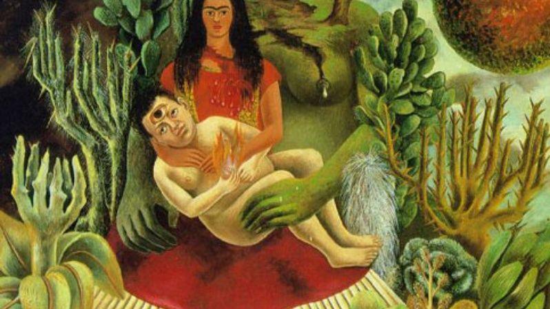 """""""El abrazo de amor del universo"""" (1949)."""