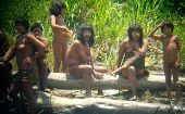 Rare pictures of uncontacted Mashco Piro Tribe distributed in 2012