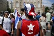 Cuba and the United States exchanged embassies for the first time in half a century Monday.