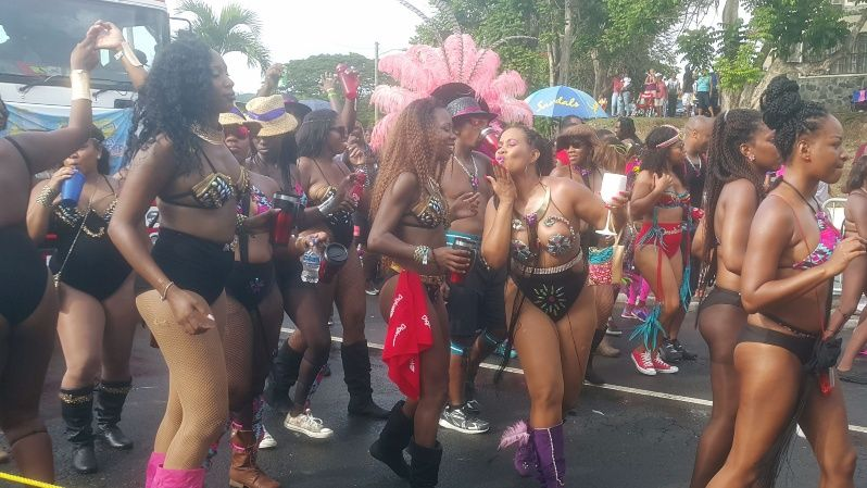 Carnival revellers in Castries, Saint Lucia