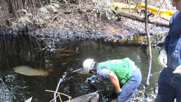 Oil spills in the Peruvian Rain Forest
