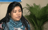 Lorena Chavera, textile worker fired for protesting