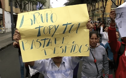 Protests against abuses of Topy Top textile exporter