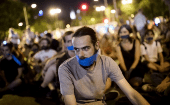 Thousands of Spanish have been protesting against the law since the beginning of the year.