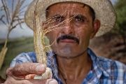 Central American farmer shows the devastating impacts of ongoing drought.